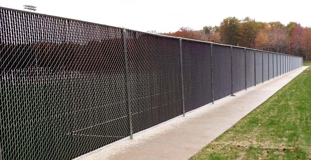 Chain link fence five