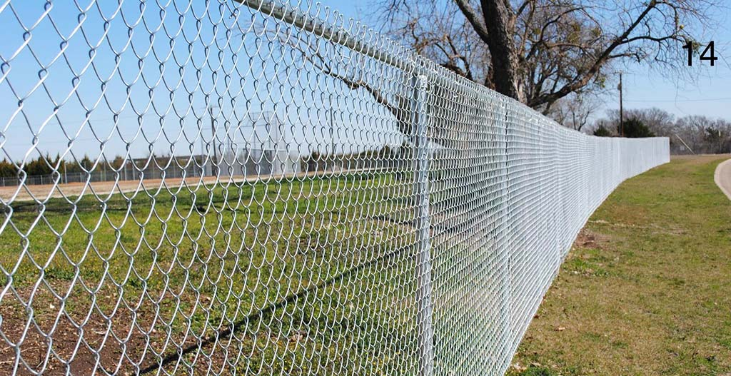 Chain link fence four