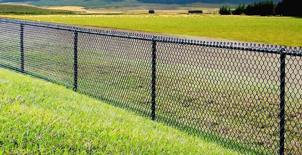 Chain link fence three