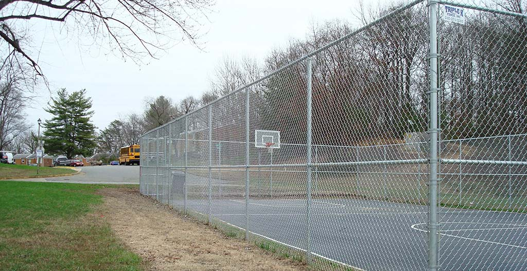 Chain link fence two