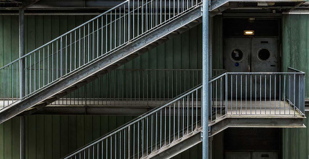 Steel stair five