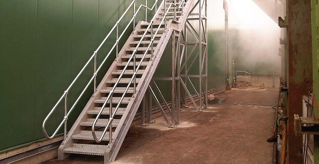 Steel stair seven