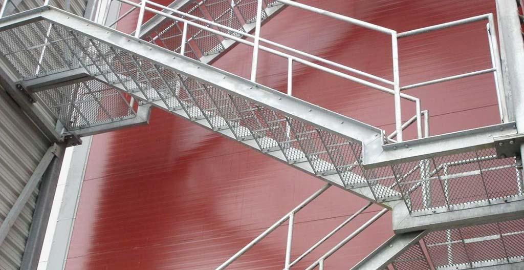 Steel stair six