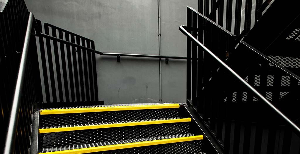 Steel stair three